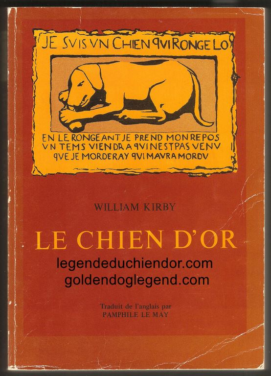 Couverture du roman Le Chien d'Or, la troisième édition de la traduction de The Golden Dog en français par Pamphile LeMay. Publiée par les Éditions Garneau, elle regroupe les deux parties en un seul volume.